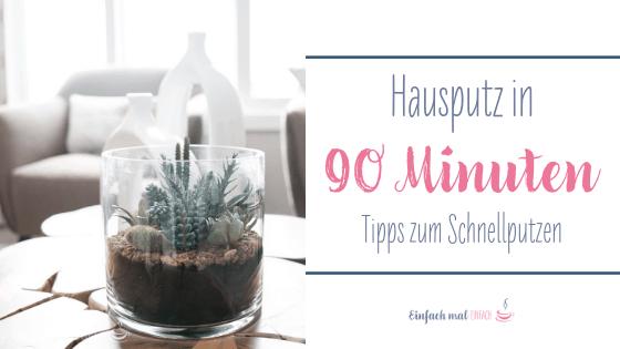 Hausputz in 90 Minuten - Tipps zum Schnellputzen - Einfach ...