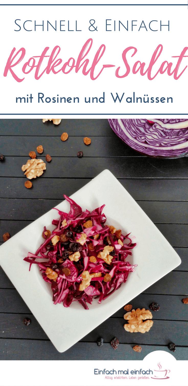 Rotkohl-Salat mit Rosinen und Walnüssen - Bild 4