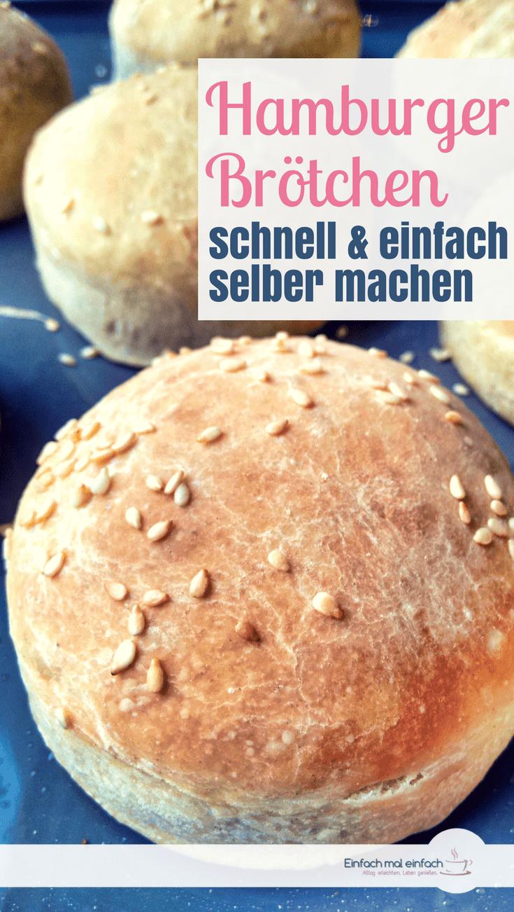 Hamburger Brötchen passen perfekt zum Grillen - und lassen sich mit diesem Rezept ganz schnell und einfach selber machen. Auch mit Dinkel und Toppings der Wahl sind diese Hamburger Buns ein Genuss - egal ob mit Fleisch oder veganer Füllung! #bbq #grillen #hamburger #schnelleküche #brötchen
