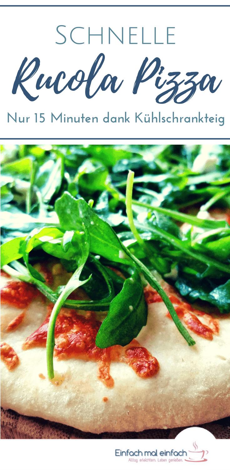Schnelle Rucola Pizza mit Oliven und Feta - Bild 4