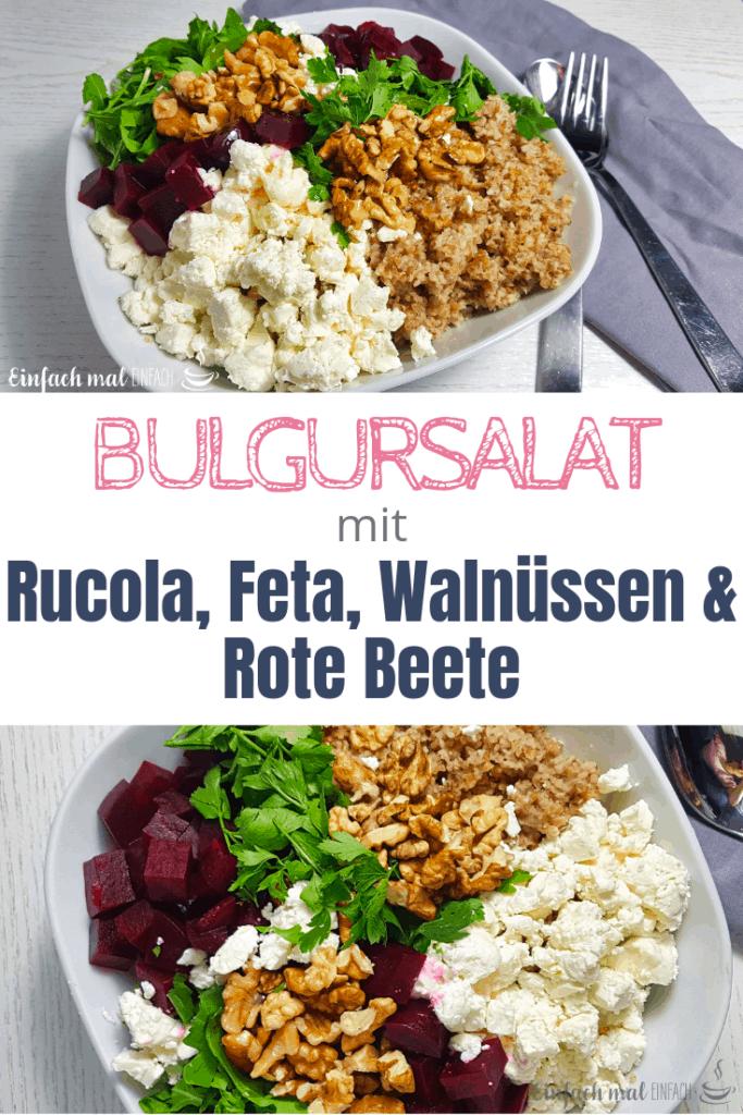 Bulgursalat mit Rote Beete