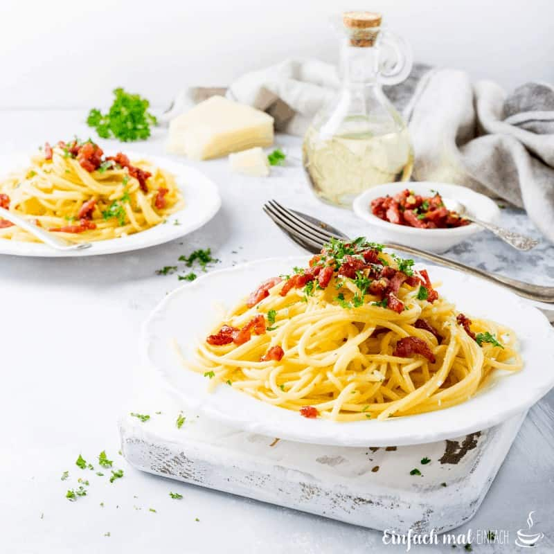 Original Spaghetti Carbonara in 15 Minuten