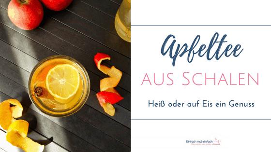 Wenn Du Dir vorgenommen hast, mehr Tee zu trinken, dann kannst Du ganz leicht einen Apfelschalentee selber machen. Dieses einfache DIY Rezept ist eine großartige Möglichkeit, Apfelschalen zu verwerten. Und er schmeckt nicht nur heiß in der kalten Jahreszeit, sondern auch auf Eis.