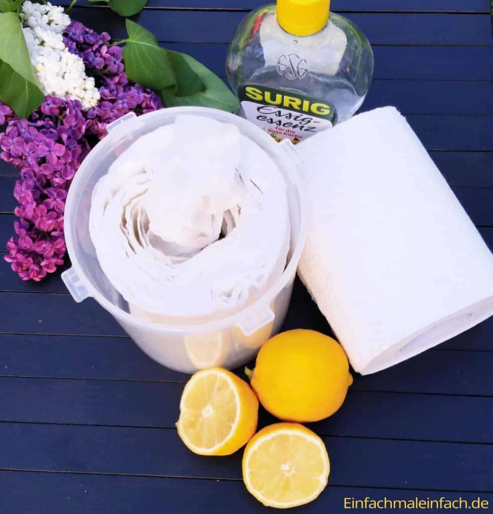 Praktische Feuchttücher für den Haushalt, das Baby oder zum Wiederverwenden lassen sich ganz einfach selbst herstellen