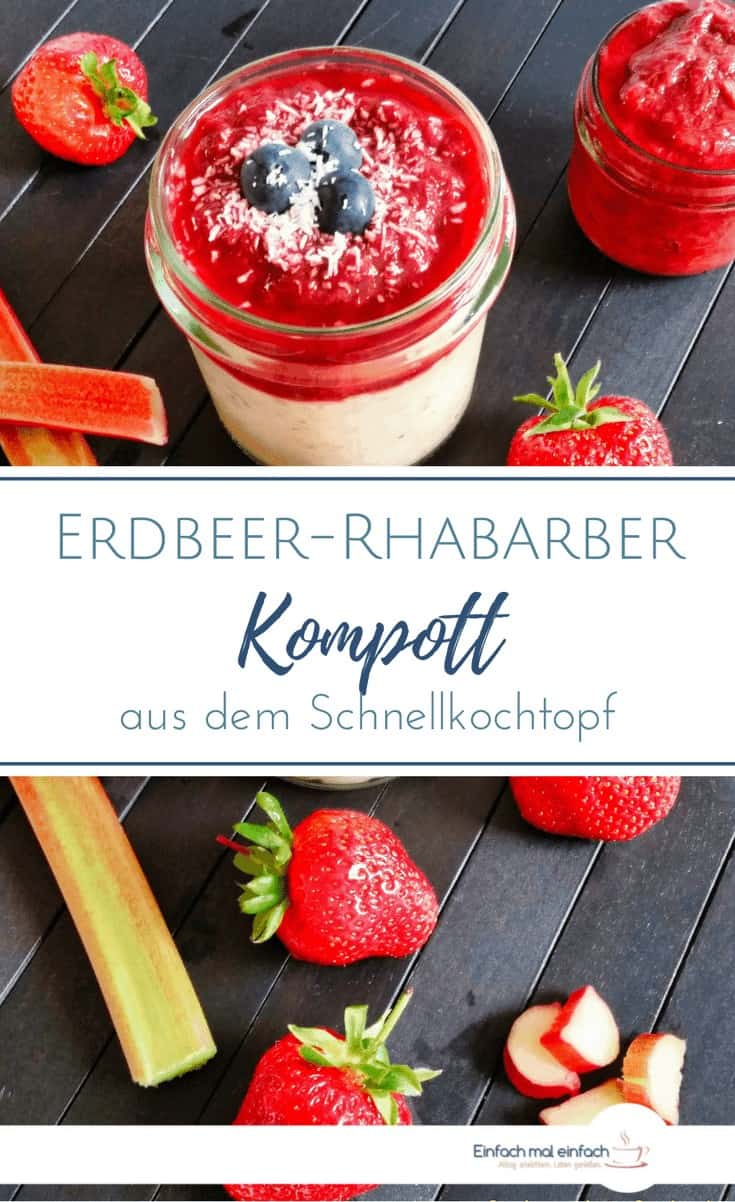 Erdbeer-Rhabarber Kompott - Bild 4