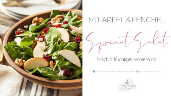 Spinatsalat mit Apfel und Fenchel - Bild 1