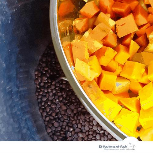 Kartoffel-Gemüse-Pfanne mit Beluga Linsen - Bild 4