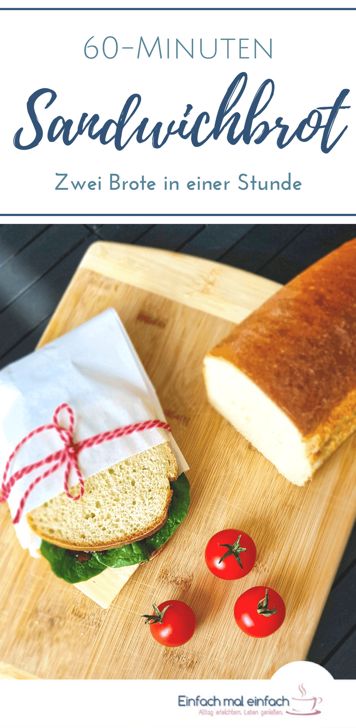 Mit diesem Rezept geht Brotbacken schnell und einfach. Auch als Anfänger zauberst Du damit zwei Brote in einer Stunde und hast viele Möglichkeiten zur Abwandlung an Deinen Geschmack. #brotbacken #brot #schnelleküche #rezepte #backen