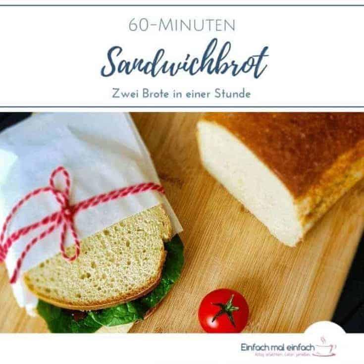 60-Minuten Sandwichbrot