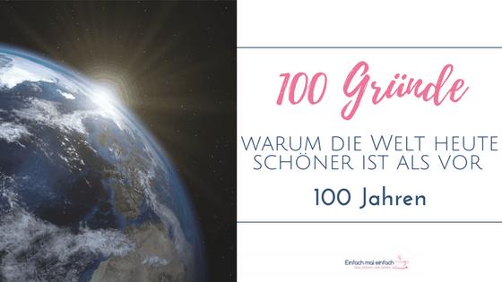 """Sonnenaufgang auf der Erde vom Weltall aus. Text:""""100 Gründe - Warum die Welt heute schöner ist als vor 100 Jahren"""""""