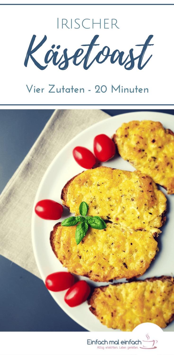 Mit diesem Rezept für irischen Käsetoast gelingt Dir nicht nur ein schnelles Essen, sondern auch kreative Resteverwertung von Brot. Ein klassisches Käse Brot mal anders! #käse #schnelleküche #resteverwertung #brot #vegetarisch