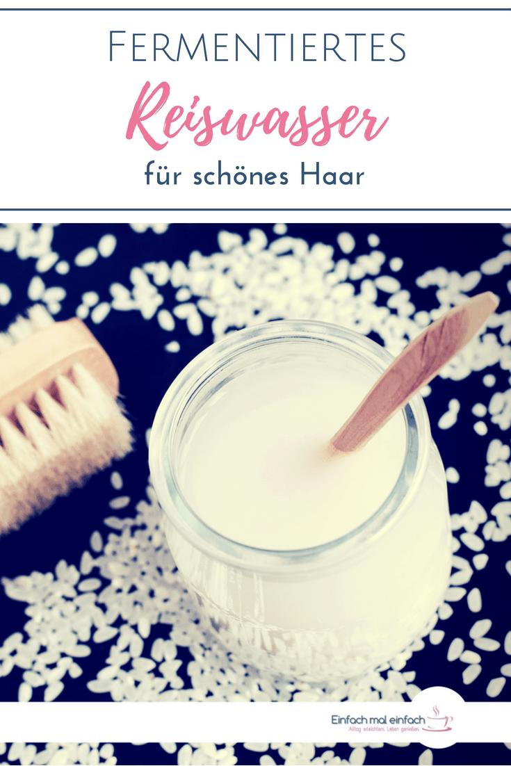 Fermentiertes Reiswasser ist noch ein Geheimtipp in der natürlichen Haarpflege. Wie Du das selber machen kannst und wie es Dir beim Haarewaschen ohne Shampoo hilft, das erfährst Du hier. #Reiswasser #Haare #Haarpflege #natürlich #fermentiert #tipps #einfach
