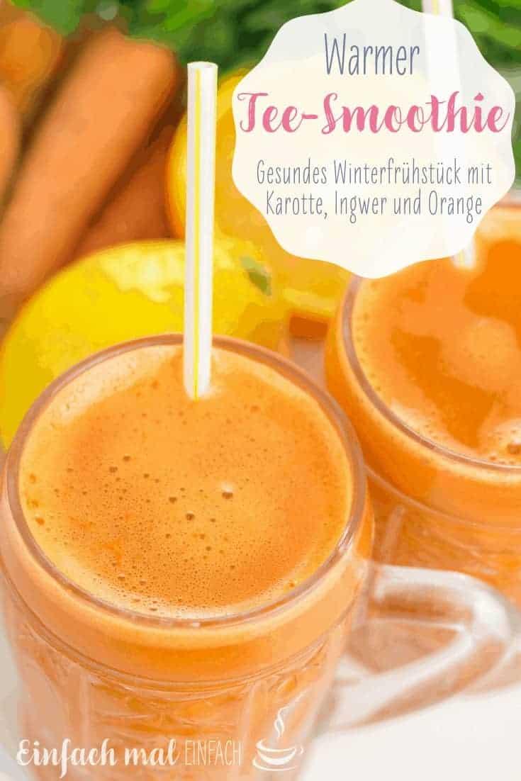 Warmer Tee-Smoothie mit Karotte, Ingwer und Orange - Bild 5