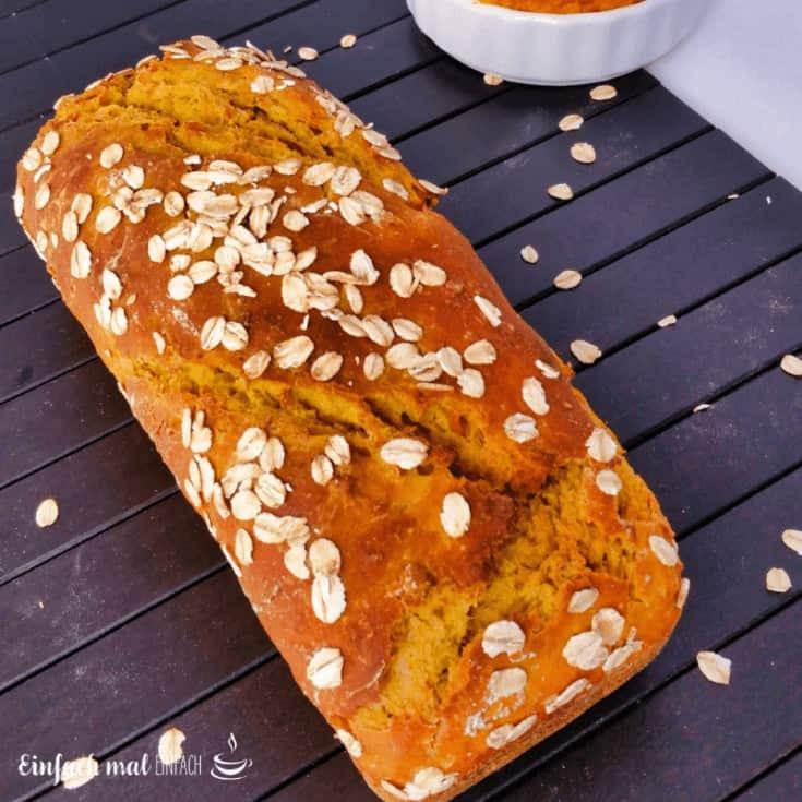 Kürbis-Haferflocken-Brot