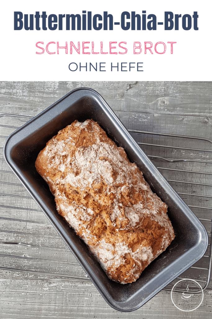 Schnelles Brot ohne Hefe: Buttermilch-Chia-Brot - Bild 5