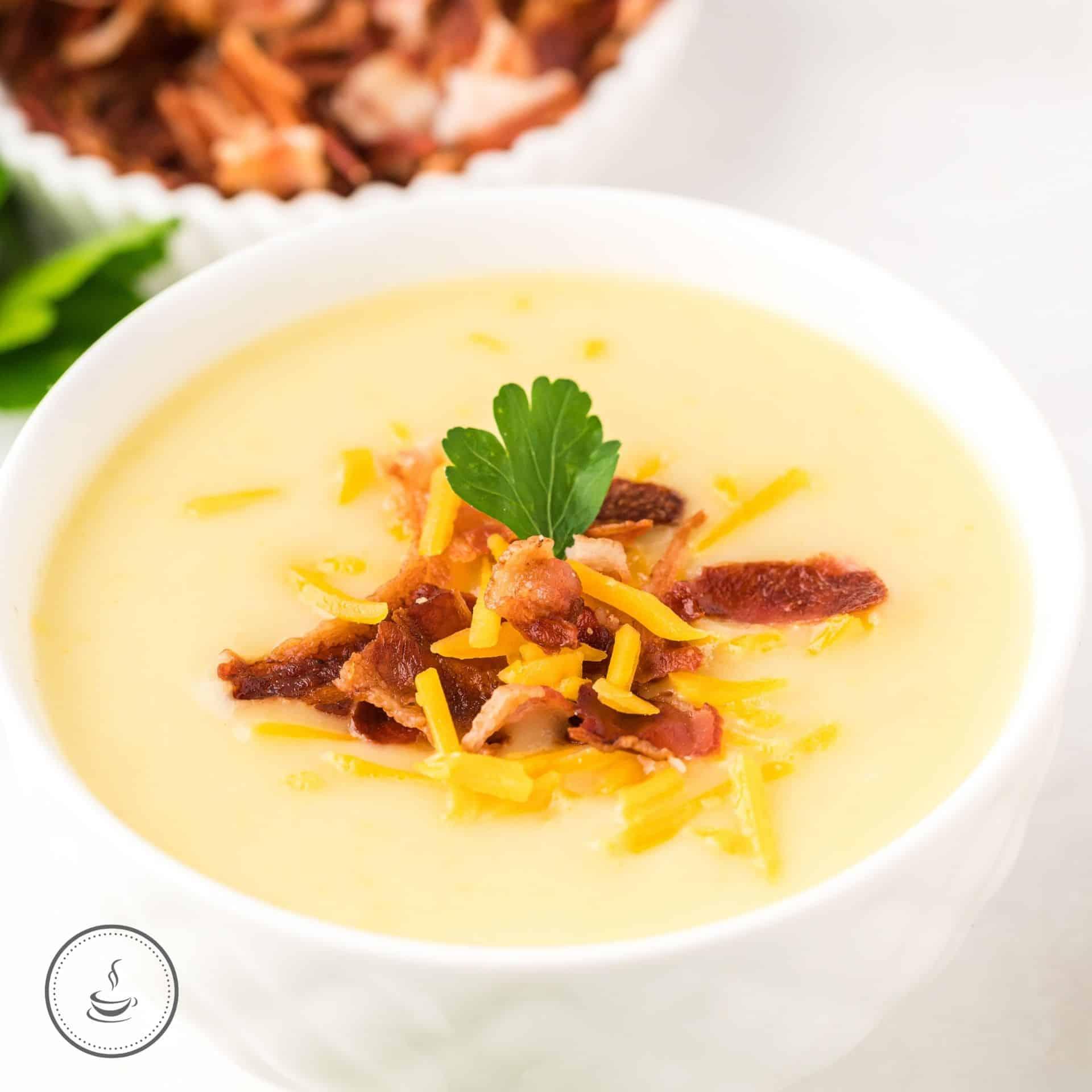 Kartoffel-Lauch-Suppe mit Bacon
